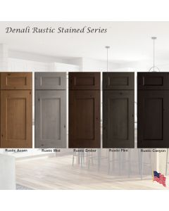 Denali Rustic Stained Assembled Cabinet Series by Legend