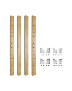X-Series Pilaster Kit For Adjustable Roll-Out Shelves