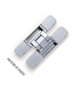 Hinge, Concealed, 3 Way Adjustment Function For Vertical, Horizontal, and Depth Adj, Dull Chrome