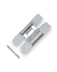 Hinge, Concealed, 3 Way Adjustment Function For Vertical, Horizontal, and Depth Adj, Polished Nickel