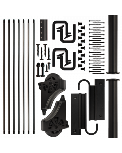 EG Sliding Hook Ladder Hardware Kit, Black