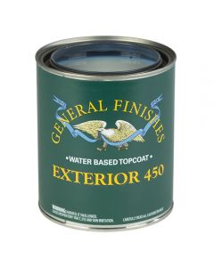 Exterior 450 Water-Based Topcoat, Choose Sheen in Quart or Gallon
