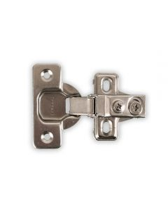 "One-Piece, Six-Way Adjustable Soft Close Hinge, 1/2"" Overlay, Screw-On"
