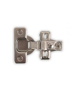 "One-Piece, Six-Way Adjustable Soft Close Hinge, 5/8"" Overlay, Press-In"
