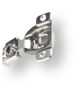 "Six-Way Adjustable One-Piece Hinge, 105°, 1/2"" Overlay, Screw-On"