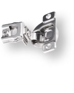 "Six-Way Adjustable One-Piece Hinge, 105°, 1-1/4"" Overlay, Screw-On"