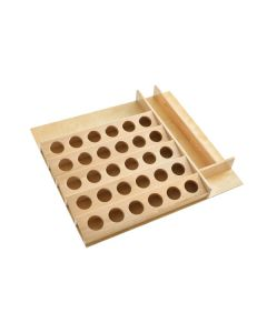 """K-Cup Drawer Insert for 24\"""" Base Cabinet or Smaller, Trimable - Natural Wood - Maple"""