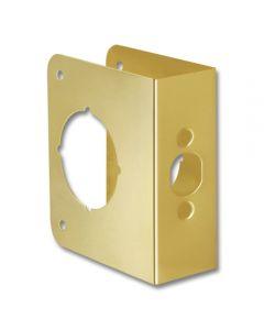 First Watch® Door Reinforcer Backset 2-3/8in Door Thickness 1-3/4in Solid Brass