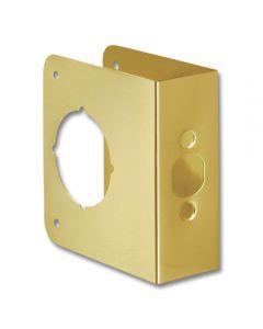 First Watch® Door Reinforcer Backset 2-3/4in Door Thickness 1-3/4in Solid Brass
