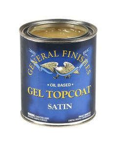Gel Topcoat Wipe-on Urethane, Satin, Gallon