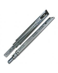 250mm to 700mm Full Extension Zinc Drawer Slides with 2mm Push-Rebound, 100 Lb. Capacity