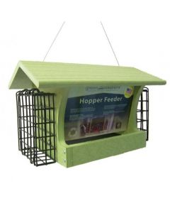 GREEN SOLUTIONS 3 QUART HOPPER FEEDER WITH SUETS 1