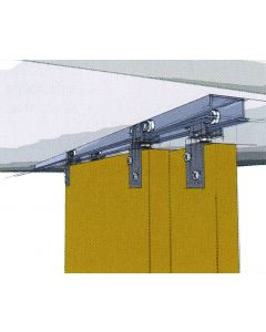 TopLine 72-138 Double Door Hardware Kit with a 4 Ft. to 8 Ft. Track 1