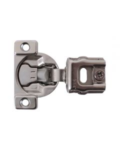 "Soft-Close One-Piece Hinge, 105 degree 1-1/4"" Overlay, Screw On"