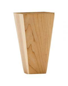 """Shaker Style Tapered Bun Foot. 2-1/4"""" x 4-1/2"""" Cherry"""