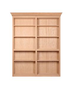 """InvisiDoor, 72\"""" Bifold Bookcase, Assembled, Unfinished, Maple"""