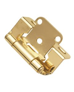 Hinge Steel Partial Wrap Polished Brass