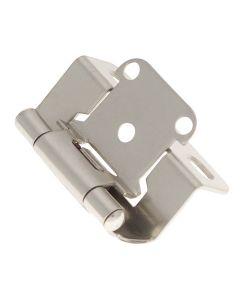 Hinge Steel Partial Wrap Satin Nickel