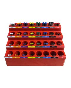 K.I.S.S. DRILL BIT SYSTEM, INCLUDES 82 COLOR CODED DRILL BITS