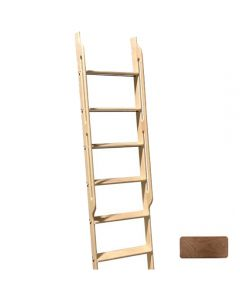 WIDE Library Ladder 8 Foot Walnut with Built-In Handles, Unassembled, Unfinished