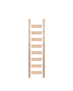 Library Ladder 9 Foot Maple Unassembled Prefinished