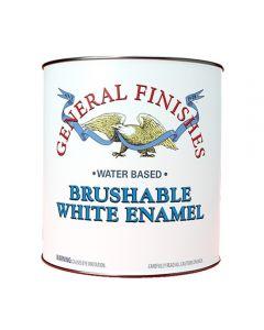 Water-Based Brushable White Enamel, Specify Sheen in Quart or Gallon