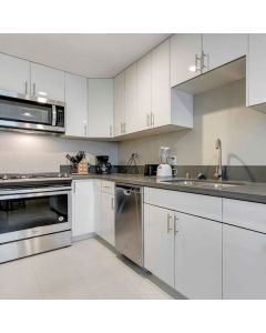 Modern Gloss White Cabinets