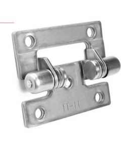 Torque Hinge, 1-1/2'' x 1-7/8'' (40 x 48 mm), 180 degree opening angle, 304 Stainless Steel