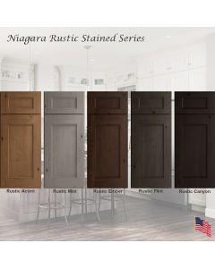 Niagara Rustic Stained Assembled Cabinet Series by Legend