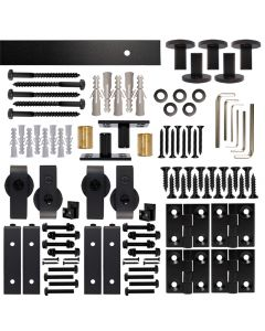 Bifold Barn Double Door Hardware Kit, Front Mount, with 6 ft. Rail
