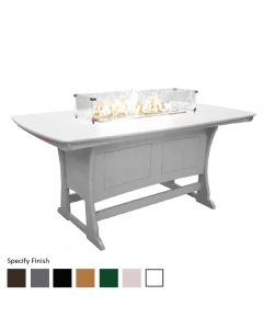"72"" Dining Height Fire Table, Specify Finish 1"