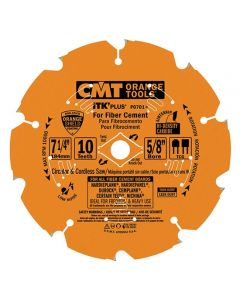 ITK Plus Saw Blade for Fiber Cement, 7-1/4 X 10 Teeth, TCG ith 5/8-Inch Bore