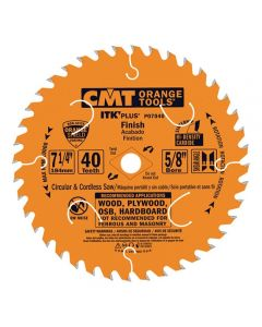 ITK Plus Finish Saw Blade, 8-8-1/4 x 40 Teeth, 10° ATB+Shear with 5/8-Inch bore