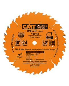 ITK Plus Ripping Saw Blade, 10 x 24 Teeth, 10° ATB+Shear with 5/8-Inch bore
