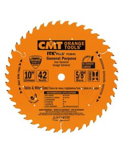 ITK Plus General Purpose Saw Blade, 10 x 42 Teeth, 10° ATB+Shear with 5/8-Inch bore