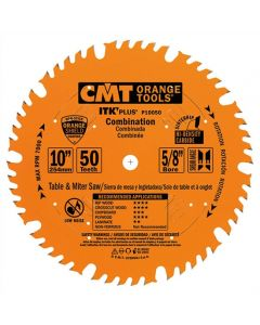 ITK Plus Combination Saw Blade, 10 x 50 Teeth, 1FTG+ 4ATB Teeth with Shear with 5/8-Inch bore