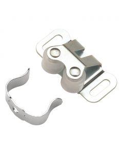 Steel Double Roller Catch, 1-5/16in cc, Cadmium