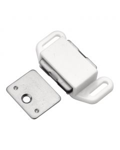 Plastic Magnetic Catch 1-5/8'' Center to Center, White