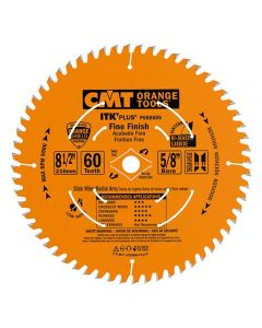 ITK Plus Finish Sliding Compound Miter Saw Blade, 8-1/2 x 60 Teeth, 10° ATB+Shear with 5/8-Inch bore