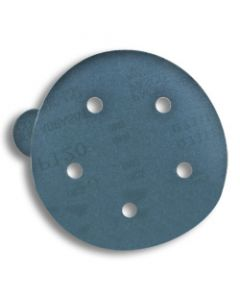 "5"" Abrasive Disc 180 Grit Q711T 3 Mil. Film Back 5-Hole PSA Disc w/Tab"