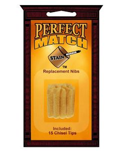 Perfect Match Stain Marker Replacement Nibs (15 Chisel Tips)