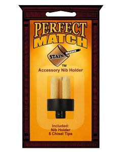 Perfect Match Stain Marker Accessory Nib Holder w/Nibs (5 Chisel Tips)