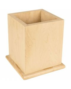 "Post Sleeve with Bullnose for 6"" Post 8-7/8"" x 8-7/8"" x 9-3/4"", Rubberwood"