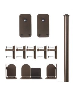 QG Rolling Door Basic Rectangle Hardware Short Bracket Kit Oil Rubbed Bronze