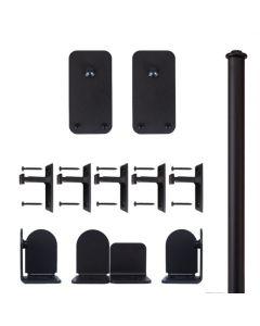 QG Rolling Door Basic Rectangle Hardware Short Bracket Kit Black