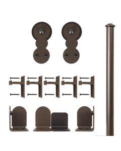 QG Rolling Door Circles Hardware Short Bracket Kit Oil Rubbed Bronze