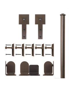 QG Rolling Door Cube Stick Hardware Short Bracket Kit Oil Rubbed Bronze