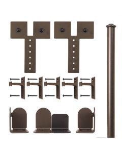 QG Rolling Door Dually Hardware Short Bracket Kit Oil Rubbed Bronze