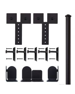 QG Rolling Door Dually Hardware Short Bracket Kit Black