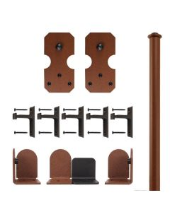 QG Rolling Door Notched Rectangle Hardware Kit, New Age Rust